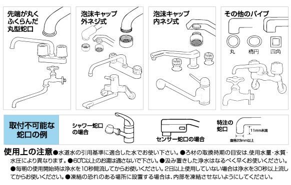ガイアの水蛇口用浄水器取り付け